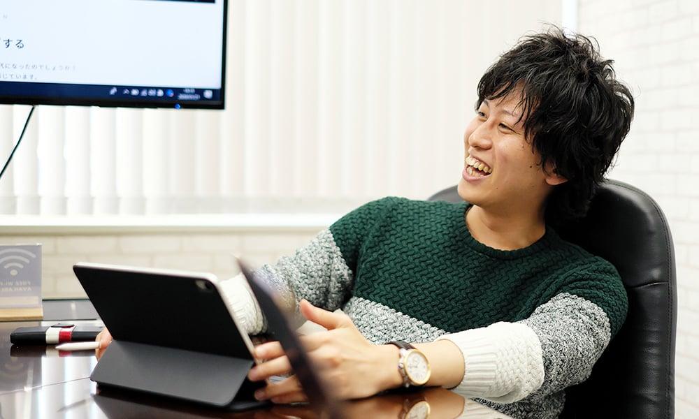 代表取締役 柏田拓也の写真
